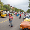 Participates interact with each other Friday during the First Fridays: Volksfest in downtown Goshen.