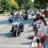 John Kline | The Goshen News<br /> Hundreds of motorcyclists make their way into downtown Goshen for a memorial service honoring Elkhart County fallen heroes at the Goshen Police Department in this September 2017 file photo. The service was part of the 19th annual Riding to Remember Fallen Police, Firefighter and Veteran Charity Ride.