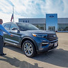 Eby Ford Lincoln Sales Consultant Arron Knisley talks about a Ford Explorer XLT at the Goshen dealership.