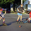 THE GOSHEN NEWS | JULY 2, 1994<br /> These youngsters are participating in Cheapskates, a 10-week summer skating outreach program which began June 23 at Goshen First Brethren Church, 213 W. Clinton St., Goshen. From left are G.T. Stover, December Fisher and Christopher Myers. The program will continue each Wednesday until August 24. Neighborhood children 6 years of age and up can participate with or without skates in several activities: volleyball, rollerhockey, rollerball, and different yard games each week. Adults are welcome. Anyone who woulk like to donate used skates or can't afford skates, contact the church or David Klein.