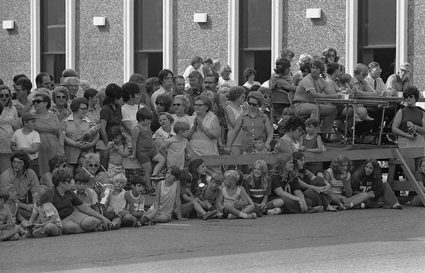 THE GOSHEN NEWS | September 4, 1973<br /> A huge crowd lined the shady side of Main Street in Ligonier Monday afternoon to view the Strawberry Valley Days parade. People took advantage of every hint of shade to avoid the hot sun during the hour-long parade.
