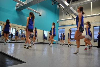 ASHLEY FOX / GAZETTE O'Hare School of Irish Dance students practice at Spotlight Studio in Medina, under instructor Eileen O'Kennedy Dunlap.