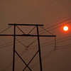 Arizona Wildfires.JPEG-0738.JPG High tension electrical lines are seen in front of smoke from the Wallow Fire Thursday, June 9, 2011 in Quemado, N.M.. (AP Photo/The Arizona Republic, David Wallace)  MARICOPA COUNTY OUT; MAGS OUT; NO SALES
