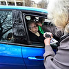 """KRISTOPHER RADDER - BRATTLEBORO REFORMER<br /> Rev. Peggy Yingst, of the Trinity Lutheran Church in Brattleboro, Vt.,  gives ashes to Marilyn Noble during an """"Ashes to Go"""" event on Wednesday, March 1, 2017."""