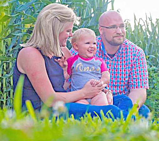 NEW PASTOR: Matthew Short, far right, is the new pastor of Lebanon First Church of the Nazarene. His is pictured here with his wife, Alyssa Short, and their 10-month-old daugther Abigail Short.