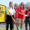 "Local Shriners Raise Money For Children<br /> Jake Thompson | The Lebanon Reporter<br /> Raising Hope: Boone County Shriners (from left) Recorder Emeritus Gordon Husk, past president Jerry Breedlove, current president Steve Light, past president Dennis Cunningham, present White Castle manager Jessi Willoughby with a check for $500 to donate to the Shriners Hospitals for Children. Boone County Shriners sat outside in near-record heat to deliver literature to those in the drive through and ask for donations. Those giving donations received a coupon for three free White Castle hamburgers. ""We've been doing OK and I've seen lots of Illinois plates today,"" Cunningham said. The Shriners worked in shifts from 11 a.m. to 7 p.m. on Wednesday."