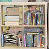 LIBRARY LEARNING: Harney Elementary School fourth-grade student Cody Deffenbaugh looks through the collection of classroom library books teacher Kirklyn Walker assembled over the summer.