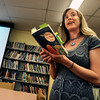 "Author Laura Resau reads an exerpt from her book What The Moon Saw during a writing workshop on Thursday, April 26, at Manhattan Middle School of Arts and Academics in Boulder. For a video of the event go to  <a href=""http://www.dailycamera.com"">http://www.dailycamera.com</a><br /> Jeremy Papasso/ Camera"