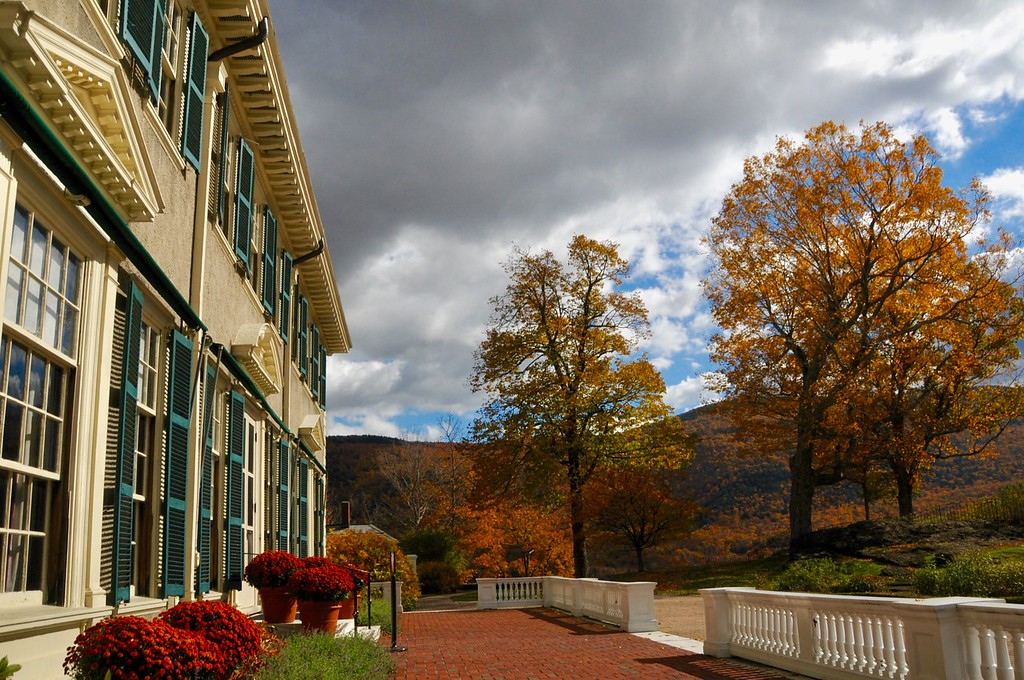 . The Autumn view from the terrace of the  Lincoln family home, Hildene. Wednesday, October 19, 2016. Scott Stafford � The Manchester Journal