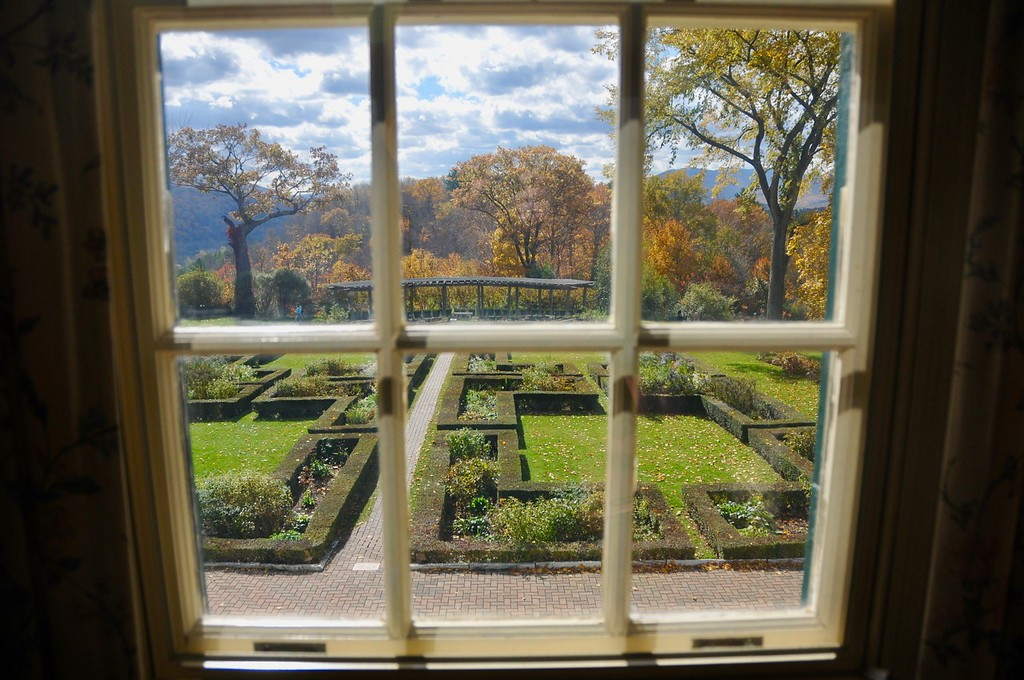 . The Autumn view from the window of the second-floor sitting room of the Lincoln family home, Hildene. Wednesday, October 19, 2016. Scott Stafford � The Manchester Journal