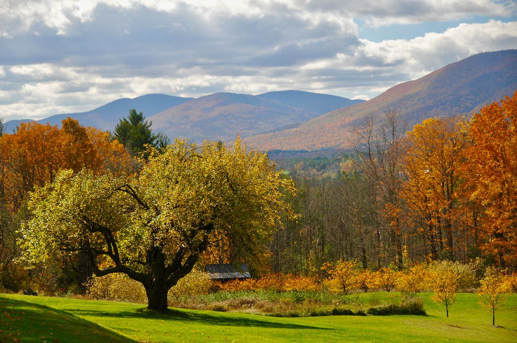. The Autumn view from the grounds of the Lincoln family home, Hildene. Wednesday, October 19, 2016. Scott Stafford � The Manchester Journal