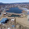 BEN GARVER — THE BERKSHIRE EAGLE<br /> The William Stanley Business Park in Pittsfield is taking shape with the Berkshire Innovation Center adding to the landscape of Mountain One and the solar array, Tuesday, April 2, 2019.