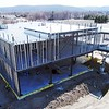 BEN GARVER — THE BERKSHIRE EAGLE<br /> The exterior framing of the Berkshire Innovation Center gives shape to the structure in the William Stanley Business Park in Pittsfield, Tuesday, April 2, 2019.