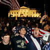 Crowds celebrate on Pennsylvania Avenue in front of the White House in Washington, early Monday, May 2, 2011, after President Barack Obama announced that Osama bin Laden had been killed. (AP Photo/Charles Dharapak)