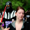 William Glasson, of Hilsboro Oregon, runs the course in a Darth Vader costume during the Bolder Boulder in Boulder, Colorado May 30, 2011.  CAMERA/Mark Leffingwell