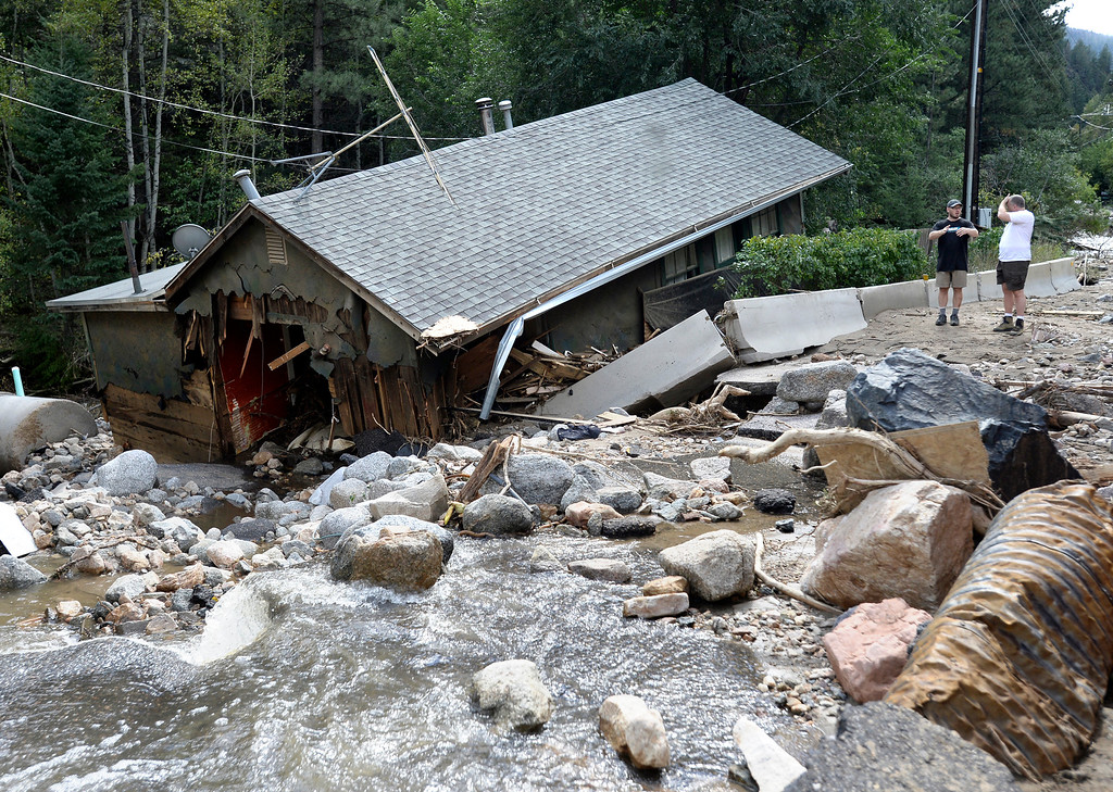. A home is destroyed in Salina on Tuesday, Sept. 17, in the Fourmile Canyon area of Boulder County. For more photos and video of the flood rescue go to www.dailycamera.com Jeremy Papasso/ Camera