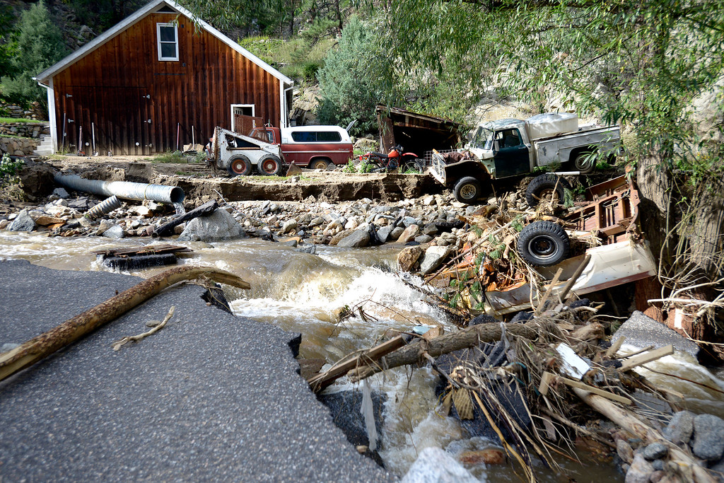 . Flood Damage in Salina on Tuesday, Sept. 17, in the Fourmile Canyon area of Boulder County.  Jeremy Papasso/ Camera