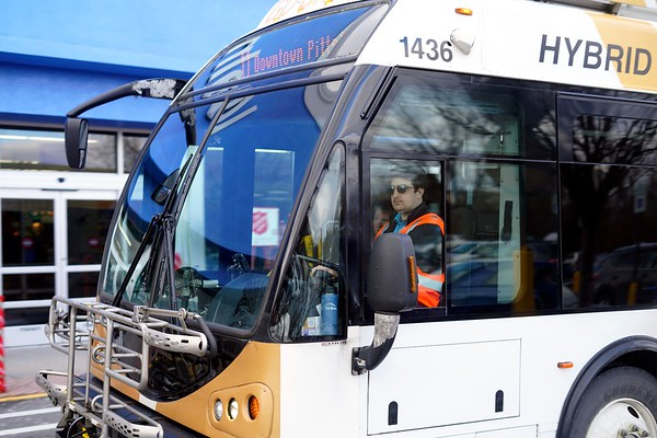 BEN GARVER — THE BERKSHIRE EAGLE<br /> BRTA ia keeping several routes open through the strike with supervisors at the wheel. The driver is names Rauley and declined to give his last name.