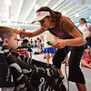KRISTOPHER RADDER — BRATTLEBORO REFORMER<br /> Evan Towsley, 4, of Brattleboro, gets his hair cut by Rachel Morse on Tuesday, Aug. 20, 2019. The Brattleboro Reformer partnered with the Auto Mall and the United Way of Windham County to provide backpacks and school supplies to school age children in Windham County. The crew from Shear Design Hair Studio provided free haircuts at the event.