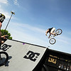 "Pro BMX riders hit the ramp during the Backyard BBQ Tour at the Flatiron Crossings mall in Broomfield on Saturday, June 4. For more photos and video of the event go to  <a href=""http://www.dailycamera.com"">http://www.dailycamera.com</a><br /> Jeremy Papasso/ Camera"
