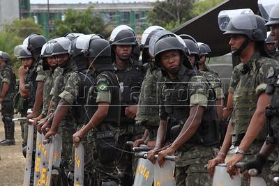 Police strike in Bahia state, Brazil. (Australfoto/Douglas Engle)