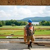 BEN GARVER — THE BERKSHIRE EAGLE<br /> The new Barlerdash Cellars building will have a view of Richmond pond. Donna Hanson and her  husband, Christian, the co-owners of Balderdash Cellars of Pittsfield, are planning to expand their winery in Richmond on Route 41. Chris May Builders out of West Stockbridge are the general contractors.