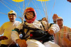 Father Adelir de Carli is seen in this file photo from January 2008 during preparations for a balloon flight in Brazil's southern Parana state. De Carli , a Roman Catholic priest has gone missing over the Atlantic Ocean off the southern coast of Brazil during a new flight as winds blew him off course.  de Carli lifted off from the port city of Paranagua on Sunday with 1,000 helium baloons, equipped with a parachute, thermal suit, satellite phone and a GPS device. A sea and air rescue operation is under way after he lost contact with port authority officials late on Sunday.(Australfoto)