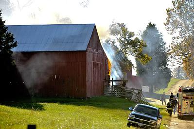 Barn fire Hollywood 10/30/08