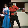 F0210BEAST3.jpg F0210BEAST2<br /> Lauren Chew, as Belle, and Peter Rock, as Gaston, during a rehearsal of Legacy High School's production of Beauty And The Beast, on Wednesday evening, February 6th, 2013.<br /> <br /> Photo by: Jonathan Castner