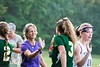 Bellows Falls coach, Bethany Courson, congratulates Windsor players after the game that ended their 58 game winning streak; KELLY FLETCHER, REFORMER CORRESPONDENT
