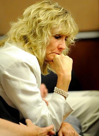 Claudia Riggs, Jack Koller's maternal grandmother, listens to Benjamin Koller's statement to the court during his sentencing hearing  at the Boulder County Justice Center in Boulder, Colorado July 21, 2010.  Benjamin Koller pleaded guilty to child abuse resulting in death. CAMERA/Mark Leffingwell