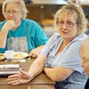 BEN GARVER — THE BERKSHIRE EAGLE<br /> Michelle DiPalazzo, a member of Berkshire County Grandparents who Raise Grandchildren, talks during a discussion in the group meeting.
