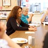 BEN GARVER — THE BERKSHIRE EAGLE<br /> Tamara Harvey, a member of Berkshire County Grandparents who Raise Grandchildren, tells a story during a discussion in the group meeting.