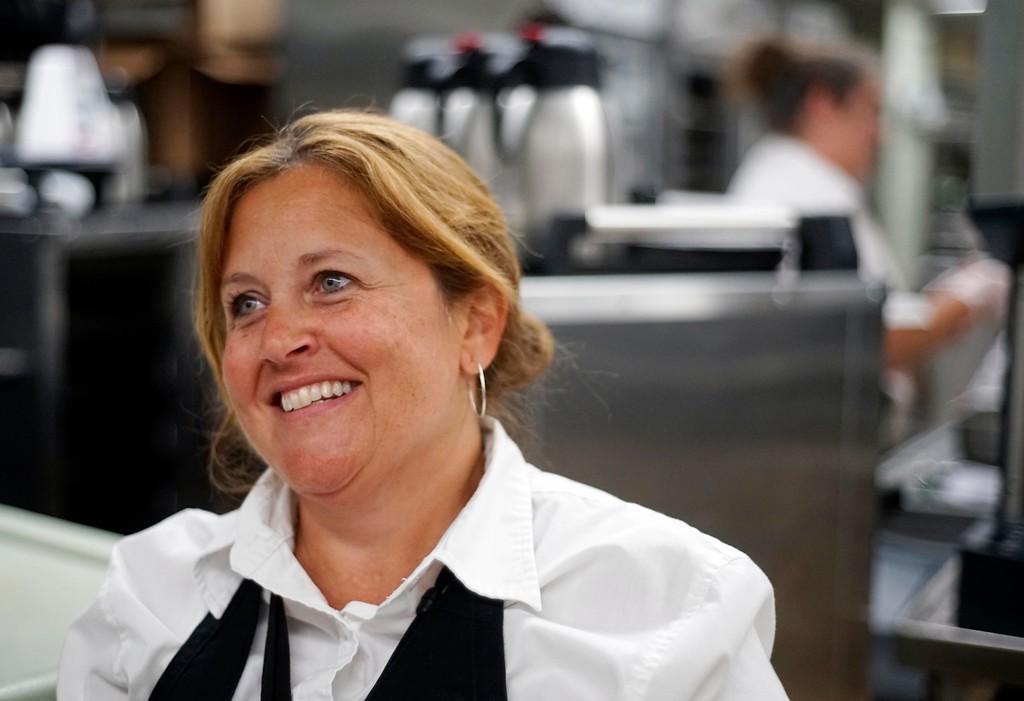 ". Christine LeClair, dietary office supervisor at BMC, say\'s \""the routine is definitely gone, definitely more restaurant style,\"" Thursday August 4, 2016. Ben Garver � The Berkshire Eagle   photos.berkshireeagle.com"