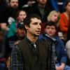 Alexandros K. Alsalis-Gogol, 24, of Manchester, speaks to the senator about the events at Standing Rock during his visit.<br /> Holly Pelczynski - Bennington Banner
