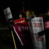 KRISTOPHER RADDER — BRATTLEBORO REFORMER<br /> A group of Trump supporters holds up signs outside of a rally for Democratic presidential candidate Sen. Bernie Sanders, I-Vt., at Stonewall Farm, in Keene, N.H., on Sunday, Dec. 22, 2019.
