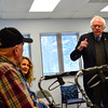 KRISTOPHER RADDER - BRATTLEBORO REFORMER<br /> U.S. Senator Bernie Sanders listens to veterans concerns during a visit to the Brattleboro, Vt., VA Clinic on Thursday, March 16, 2017.