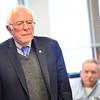 KRISTOPHER RADDER - BRATTLEBORO REFORMER<br /> U.S. Senator Bernie Sanders listens to veterans concerns during a visit to the Brattleboro, Vt., VA Clinic on Thursday, March 16, 2017.