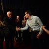 KRISTOPHER RADDER - BRATTLEBORO REFORMER<br /> U.S. Senator Bernie Sanders shake hands of entrepreneurs back stage of the Latchis Theatre before delivering a speech for Windham Grows on Thursday, March 16, 2017.