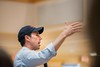 KELLY FLETCHER, REFORMER CORRESPONDENT -- Beto O'Rourke adresses a crowd of about 250 people at aTown Hall event at Keene State College on Friday, September 6th