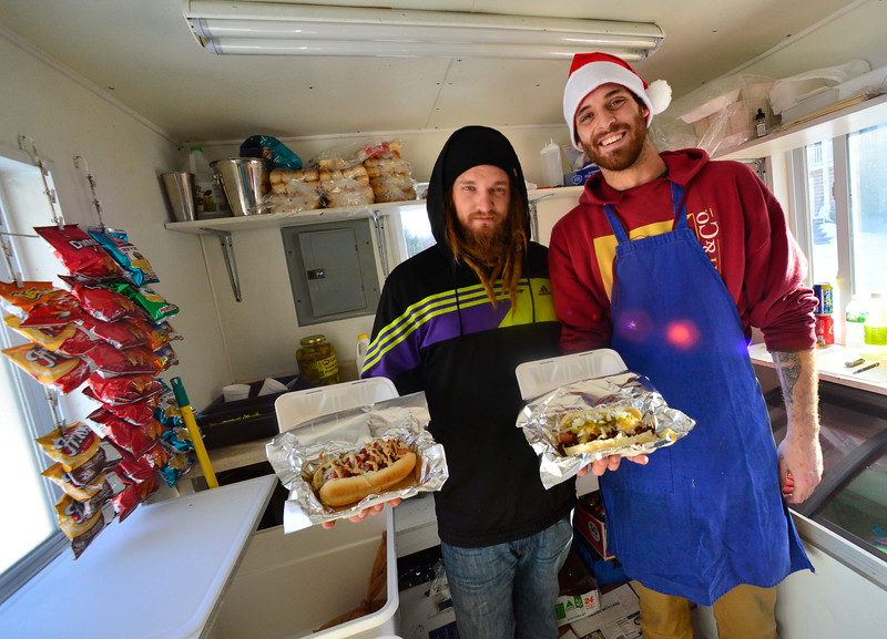 KRISTOPHER RADDER — BRATTLEBORO REFORMER<br /> Owners Alex Pfeiffer and Michael Unterberg of Between the Buns.