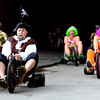 "Chris Vinall, center, leads the pack of Big Wheels in his pirate costume on Saturday, July 9, during the Big Wheel Rally in Boulder. For more photos and video go to  <a href=""http://www.dailycamera.com"">http://www.dailycamera.com</a><br /> Jeremy Papasso/ Camera"