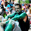 "Matt Marshall, of Denver, has some fun on his Big Wheel on Saturday, July 9, during the Big Wheel Rally in Boulder. For more photos and video go to  <a href=""http://www.dailycamera.com"">http://www.dailycamera.com</a><br /> Jeremy Papasso/ Camera"