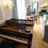 BEN GARVER — THE BERKSHIRE EAGLE<br /> The completed renovation at Blantyre is ready for exploration by visitors and locals alike, Monday, June 18, 2019. This is a view of the music room.