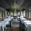 BEN GARVER — THE BERKSHIRE EAGLE<br /> The completed renovation at Blantyre is ready for exploration by visitors and locals alike, Monday, June 18, 2019. The conservatory is one othe the dinning venues.