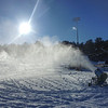 KRISTOPHER RADDER - BRATTLEBORO REFORMER<br /> Crews blow snow for the first time on Thursday, Dec. 14, 2017 at Living Memorial Park as they prepare the hill to be open to skiers and snowboarders on Dec. 28.