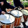 KRISTOPHER RADDER — BRATTLEBORO REFORMER<br /> Drummers drum during the 10th annual Blueberry Festival Parade in Dover, Vt., on Saturday, July 27, 2019.