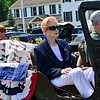 KRISTOPHER RADDER — BRATTLEBORO REFORMER<br /> Judith Jones, a Korean War veteran, was honored with a Quilt of Valor during the 10th annual Blueberry Festival Parade in Dover, Vt., on Saturday, July 27, 2019.