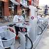 "Boulder Mayor, Susan Osborne, puts away her B-cycle after an opening ride.<br /> Boulder B-cycle is a community nonprofit formed to implement and operate a bike-share system in the City of Boulder. <br /> For more photos and a video of B-cycles opening day, go to  <a href=""http://www.dailycamera.com"">http://www.dailycamera.com</a>.<br /> Cliff Grassmick/ May 20, 2011"
