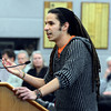"Simon Mostafa, of Boulder, speaks about the harmful effects of fracking during a Boulder County Commissioners meeting on Thursday, Jan. 24, at the Boulder County Courthouse on Pearl Street in Boulder. For a video with an anti-fracking supporter go to  <a href=""http://www.dailycamera.com"">http://www.dailycamera.com</a><br /> Jeremy Papasso/ Camera"
